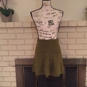 Green American Apparel circle skirt